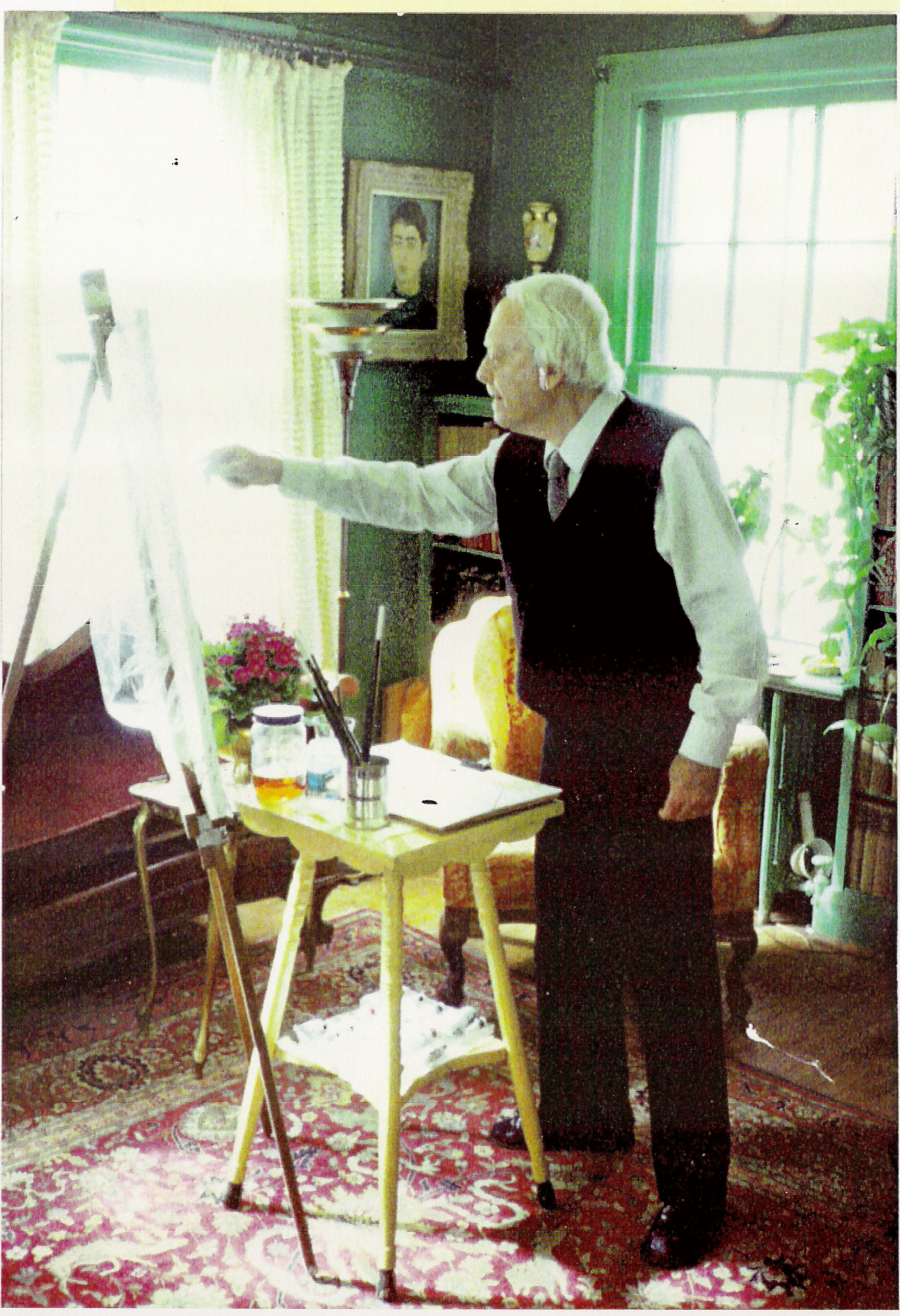 William Walton Armstrong painting at 42 Old Yonge St, 1990s.